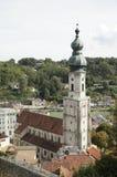 Kyrka av Burghausen royaltyfri bild