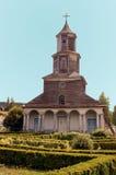 Kyrka av Chiloe, Nercon. royaltyfri bild