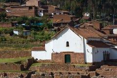 Kyrka av Chinchero Arkivfoto
