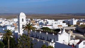 Kyrka av Conil-Andalusia Royaltyfri Foto