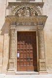Kyrka av degliangelöss för St. Maria. Lecce. Puglia. Italien. Arkivbilder