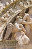 Kyrka av degliangelöss för St. Maria. Lecce. Puglia. Italien. Arkivfoton