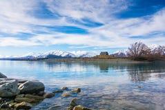 Kyrka av den bra herden, sjö Tekapo Arkivbild