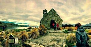 Kyrka av den bra Shepparden, södra ö, Nya Zeeland Arkivfoto