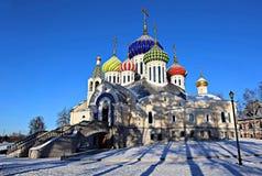 Kyrka av den frälsareomgestaltningMetochion patriarken av Moskva Arkivbilder