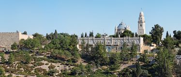 Kyrka av den Hagia Maria Sion abbeyen i den gammala staden o Royaltyfri Fotografi
