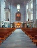 Kyrka av den heliga arga inre i Dresden, Sachsen, Tyskland Royaltyfria Foton