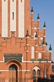 Kyrka av den heliga familjen, neo-gotiskt 20th århundrade. Kaliningrad (till Koenigsberg 1946), Ryssland arkivfoton