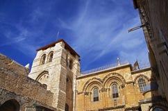 Kyrka av den heliga griften Jerusalem Royaltyfri Foto