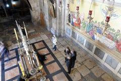 Kyrka av den heliga griften, Jerusalem Fotografering för Bildbyråer