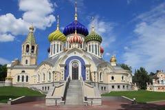 Kyrka av den heliga Igoren av Chernigov (Moskva) royaltyfri foto