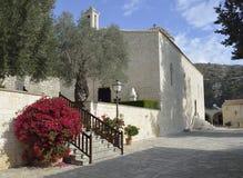 Kyrka av den heliga kloster av St Neophytos Royaltyfri Fotografi