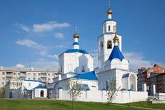 Kyrka av den heliga martyrParaskeva closeupen, solig dag kazan russia Arkivbilder