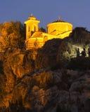 Kyrka av den heliga profeten Elijah, i byn av Protaras, Cypern, Europa royaltyfri foto