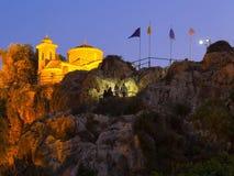 Kyrka av den heliga profeten Elijah, i byn av Protaras, Cypern, Europa Augusti 19, 2018 arkivbilder