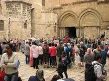 Kyrka av den heliga Sepulchre×¥ Jerusalem gamla staden israel Royaltyfri Foto