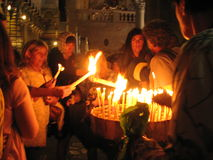 Kyrka av den heliga Sepulchre×¥ Jerusalem gamla staden israel Arkivfoton
