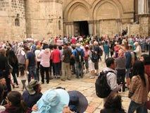 Kyrka av den heliga Sepulchre×¥ Jerusalem gamla staden israel Arkivbilder