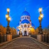 Kyrka av den heliga Treenighet i Orekhovo-Borisov Arkivbild
