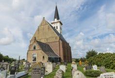 Kyrka av Den Hoorn på Texel Royaltyfria Foton