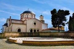 Kyrka av den jungfruliga Mary Panagia i Kavala arkivbilder