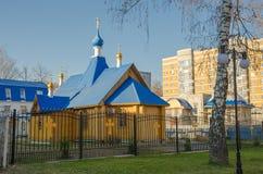 Kyrka av den Kazan modern av guden Arkivfoto
