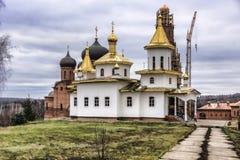 Kyrka av den Kazan symbolen av modern av guden Arkivbild