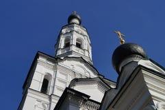 Kyrka av den Kazan symbolen av modern av guden Arkivfoto