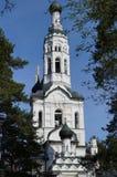 Kyrka av den Kazan symbolen av modern av guden Royaltyfria Foton