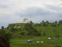 Kyrka av den Kazan symbolen av modern av guden Arkivfoton