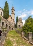 Kyrka av den Madonna dell`en Immacolata i Brienno, Italien royaltyfri bild