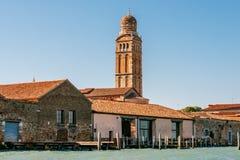 Kyrka av den Madonna dell'Ortoen i Venedig, Italien Fotografering för Bildbyråer