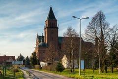 Kyrka av den mest heliga Treenighet i Bogdanowo, Polen Royaltyfri Foto