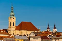 Kyrka av den obefläckade befruktningen-Uhersky Brod, tjeck Arkivbild