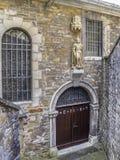 Kyrka av den Saint Lucia eller för St Lucy ingången, Stolberg, Rhineland, Tyskland arkivbild