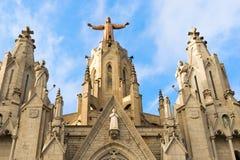 Kyrka av den sakrala hjärtan, Tibidabo, Barcelona Arkivbilder