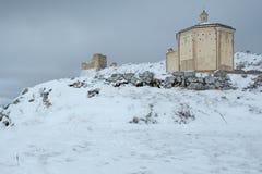 Kyrka av den Santa Maria dellaen PietÃ, i de forntida länderna av Abruzzo Royaltyfri Fotografi