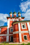 Kyrka av den Smolensk symbolen av modern av guden av det 18th århundradet i Uglich, Ryssland royaltyfria foton