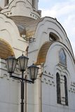 Kyrka av den Smolensk symbolen av modern av guden Fotografering för Bildbyråer