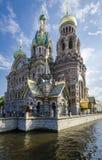 Kyrka av den spillda Booden, St Petersburg, Ryssland Arkivbilder