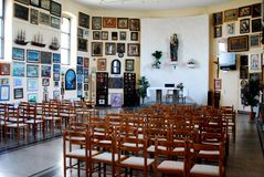 Kyrka av den välsignade jungfruliga Maryen på Trsat i Rijeka Royaltyfria Bilder