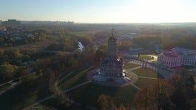 Kyrka av den välsignade oskulden i Dubrovitsy stock video