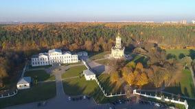 Kyrka av den välsignade oskulden i Dubrovitsy lager videofilmer