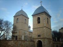 Kyrka av det heliga korset i Ternopol Royaltyfri Foto