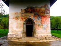 Kyrka av det heliga korset, kloster för PătrăuÈ› I Arkivbild