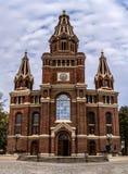 Kyrka av det mest heliga namnet av Jesus i Lodz royaltyfri fotografi