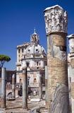 Kyrka av det mest heliga namnet av Mary på det Trajan forumet Royaltyfri Foto