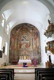 Kyrka av det StMarys antagandet, Samobor, Kroatien, 16 Royaltyfri Bild
