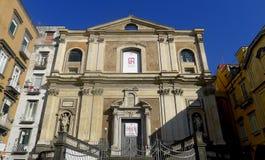 Kyrka av Donnaregina Nuova, Naples, Italien Royaltyfria Bilder