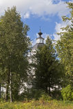 Kyrka av Elijah profeten i byn Tsypina, Kirillovsky område, Vologda region, Ryssland royaltyfri foto